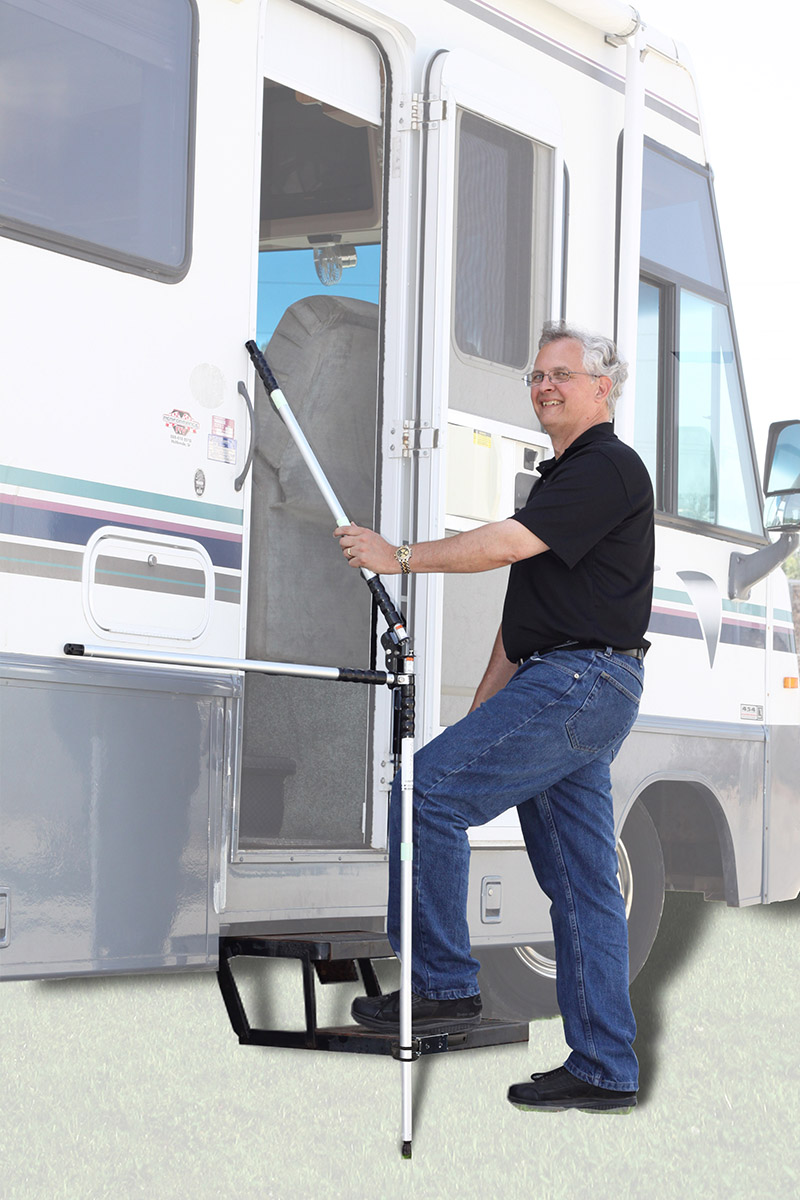 A SAFETY HANDLE FOR RV MOTORHOME APPLICATIONS