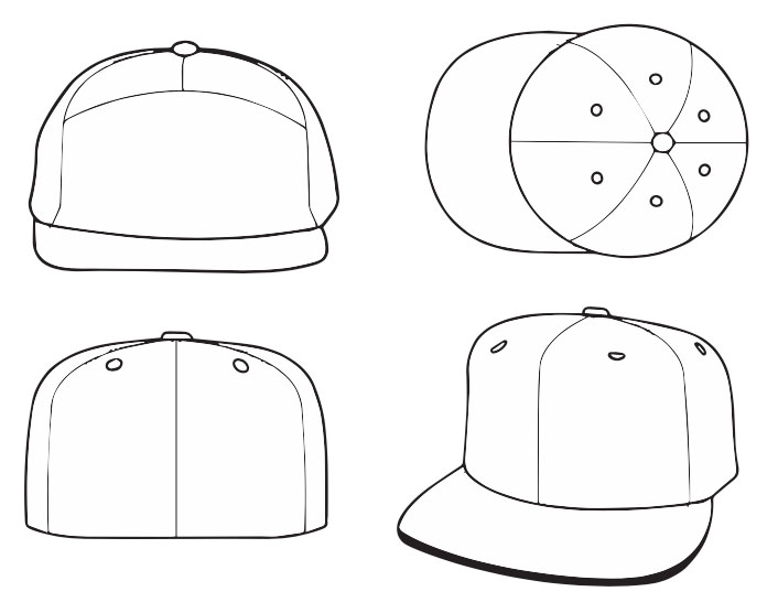 hats outline